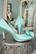 Tiffany-blue wedding heels - www.etsy.com/shop/Parisxox