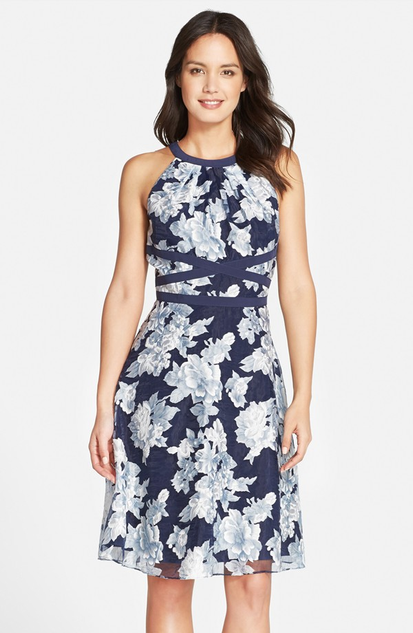 Adrianna Papell floral dress – nordstrom.com | The Merry Bride