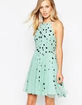 ASOS Spot Mesh Fit and Flare Mini Dress - asos.com