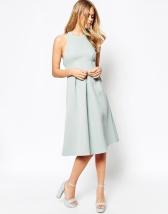 ASOS Textured Dress with Halterneck Detail - asos.com