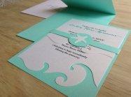 Beach wedding invitation - www.etsy.com/shop/TheFindSac
