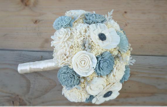 Dusty Blue Wedding Bouquets : Dusty blue wedding the merry bride
