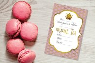 Bridal tea party invitation - www.etsy.com/shop/ShadeonShape