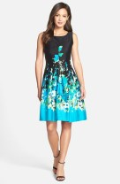 Chetta B floral fit and flare dress - nordstrom.com