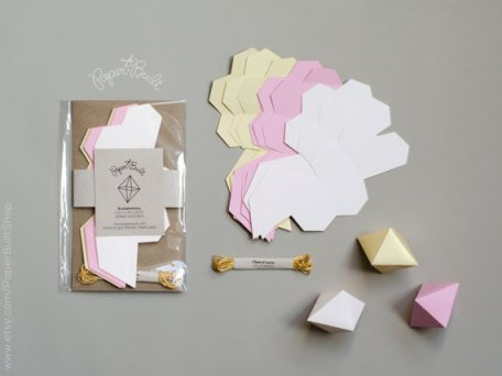 DIY geometric garland kit - www.etsy.com/shop/PaperBuiltShop