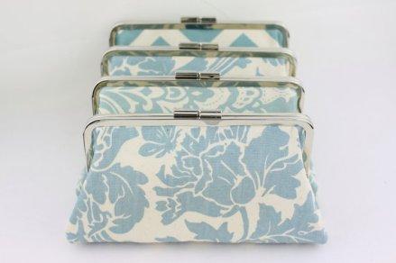 Dusty blue clutch purses - www.etsy.com/shop/FAbridal