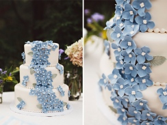 Dusty blue wedding cake inspiration {via itsyourpartysc.blogspot.com}