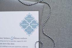 Dusty blue wedding invitation - www.etsy.com/shop/LamaWorks