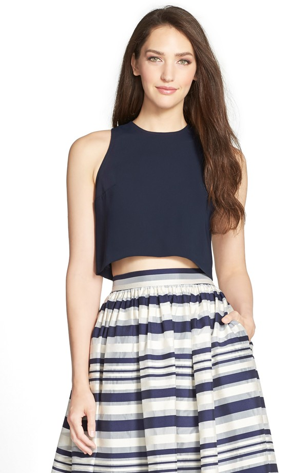 Erin Fetherston skirt and crop top – nordstrom.com | The Merry Bride