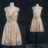 Gold lace bridesmaid dress - www.etsy.com/shop/RenzRags