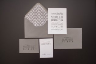 Grey wedding invitation - www.etsy.com/shop/SuitePaper