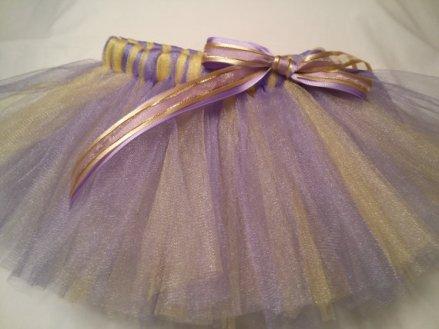 Lavender and gold flower girl tutu - www.etsy.com/shop/JustTutus