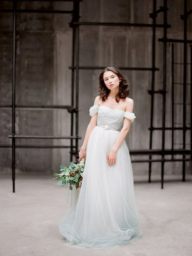Light dusty blue wedding dress - www.etsy.com/shop/Milamirabridal