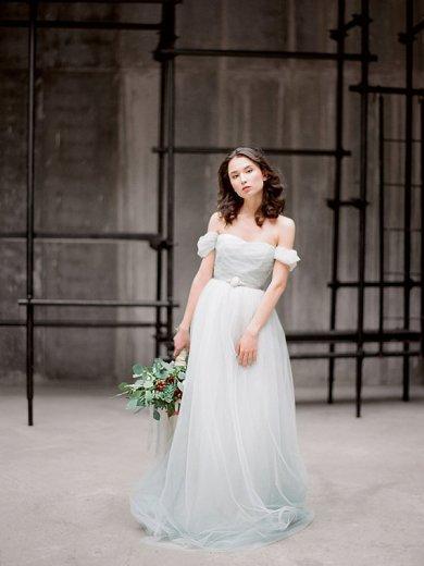 Light dusty blue wedding dress - www.etsy.com/shop/Milamirabridal