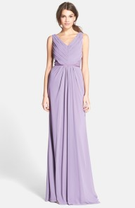 Monique Lhuillier lavender bridesmaid dress - nordstrom.com