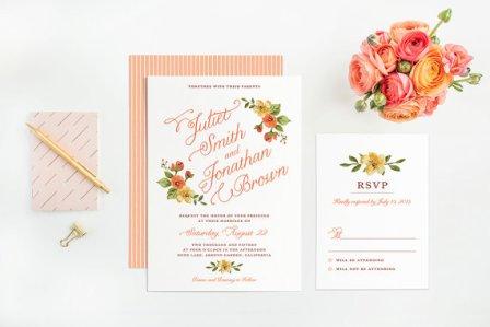 Printable wedding invitations - www.etsy.com/shop/plpapers