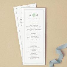Printable wedding program template - www.etsy.com/shop/SwellAndGrand