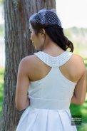 Tea-length wedding dress US$350 - www.etsy.com/shop/MichyLouDotCom