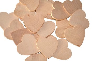 Unfinished wooden hearts - paint the colour of your choice - www.etsy.com/shop/moonbeamgifts