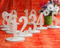 Unfinished wooden table numbers - Paint the colour of your choice! www.etsy.com/shop/WeddingCraftShop