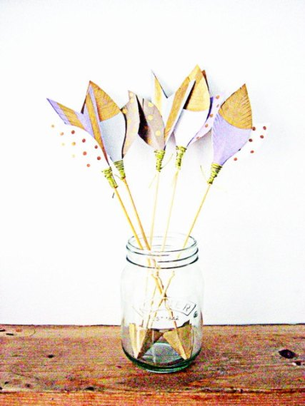 Unique lavender and gold arrow escort cards - www.etsy.com/shop/SepiaSmiles