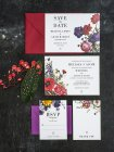 Vintage botanical wedding invitation - www.etsy.com/shop/3EggsDesign