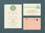 Woodland wedding invitation - www.etsy.com/shop/blacklabstudio