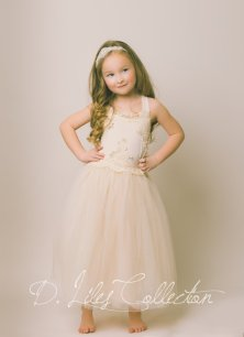 Champagne flower girl dress - www.etsy.com/shop/DLilesCollection
