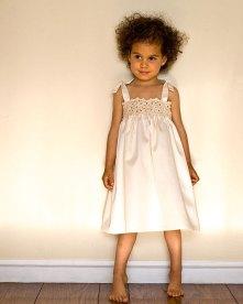 Cotton and crochet flower girl dress - www.etsy.com/shop/purepixie