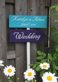 Customised wedding sign - www.etsy.com/shop/aSignofJoy