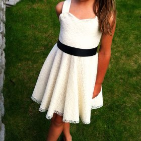 Ivory lace flower girl dress - www.etsy.com/shop/ChloeBellBoutique