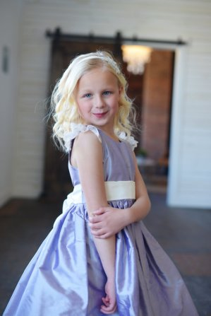 Lavender flower girl dress - www.etsy.com/shop/gillygray