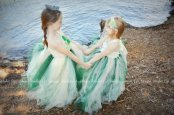 Mint and emerald flower girl dresses - www.etsy.com/shop/kimbercyr