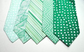 Mint and emerald men's neckties - www.etsy.com/shop/tuxandtulle
