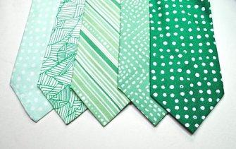Mint and emerald men's neckties - www.etsy.com/shop/tuxandtulle