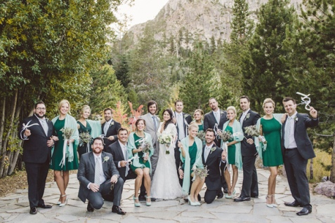 Mint and emerald wedding party {via ruffledblog.com}