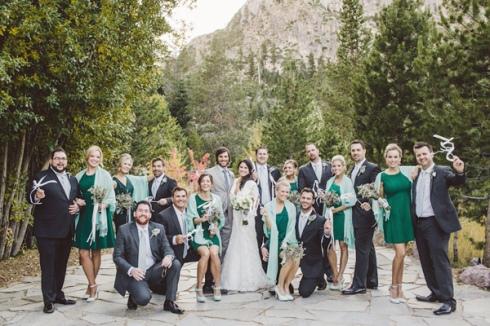 Mint and emerald wedding party {via ruffledblog.com}
