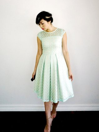 Mint lace bridesmaid dress - www.etsy.com/shop/ShopApricity