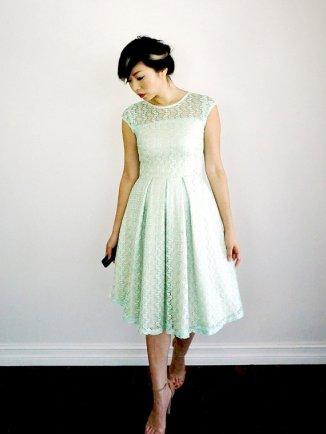 Mint lace bridesmaid dress - www.etsy.com/shop/ShopApricity