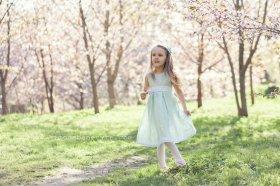 Mint linen flower girl dress - www.etsy.com/shop/PetitDeLin