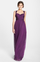 Purple Monique Lhuillier bridesmaid dress - nordstrom.com