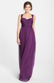 Purple Monique Lhuillier bridesmaid dress - nordstrom.com
