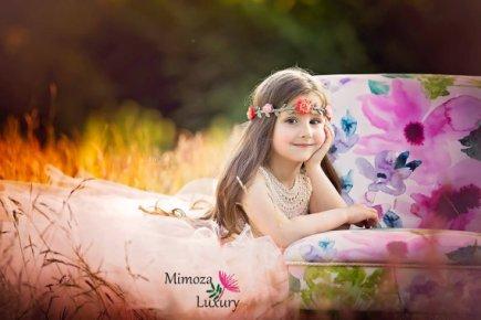 Peach flower girl dress - www.etsy.com/shop/MimozaLuxury