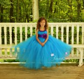 Purple and turquoise flower girl dress - www.etsy.com/shop/PrincessCuteBoutique