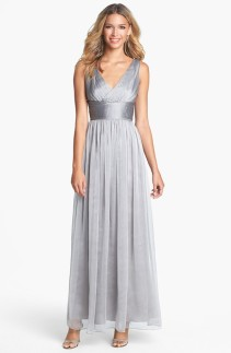 Silver Monique Lhuillier Bridesmaid dress - nordstrom.com