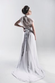 White and silver wedding dress - www.etsy.com/shop/StaysiLeeCouture