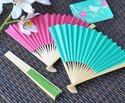 Aqua and pink fans - www.etsy.com/shop/LittleThingsFavors