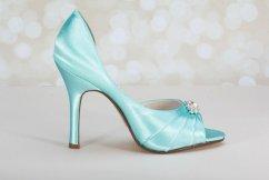Aqua bridal heels - www.etsy.com/shop/Parisxox