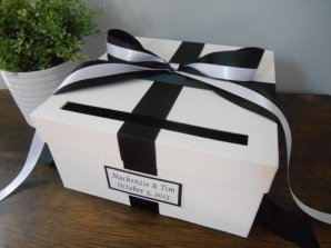 Black and white card box - www.etsy.com/shop/astylishdesign