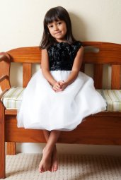 Black and white flower girl dress - www.etsy.com:shop:RebeccaHempe